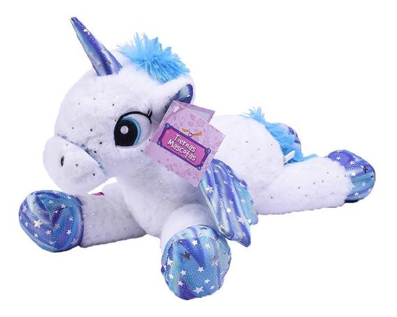 Unicornio Peluche Con Alas Blanco 25 Cm Tiernas Mascotas