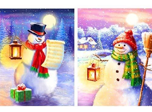 Diamante D Pintura Parejas Muñeco De Nieve De Navidad ...