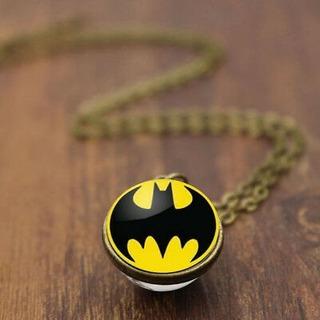Colar Esfera Bat Sinal Batman Homem Morcego + Brinde