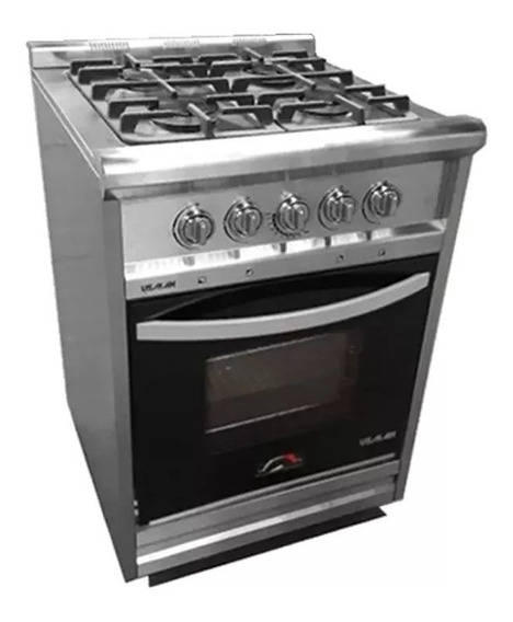 Cocina Industrial 4 Hornallas Acero 55 Irina 2220 R.f. Usman