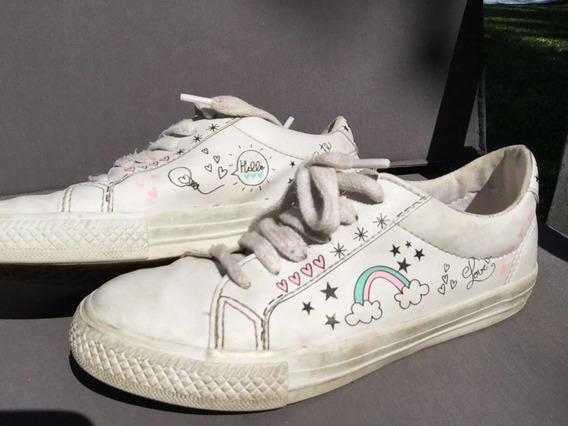 Zapatillas Cheeky Cuero Estampadas