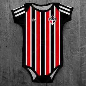 Body Bebe São Paulo Tricolor Futebol Personalizado C/ Nome