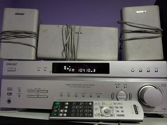 Receiver Sony Str-k760p + 3 Caixas De Som