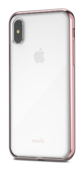 Vitros Carcasa Transparente Para iPhone X / Xs Rosa - Moshi