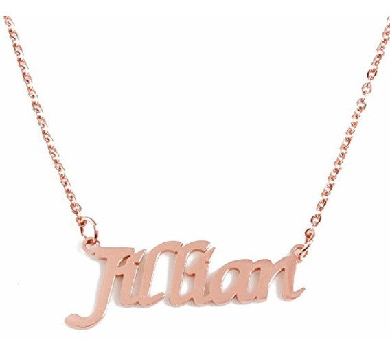 Zacria Kaitlyn Custom Name Necklace Personalized 18ct Gold Plated