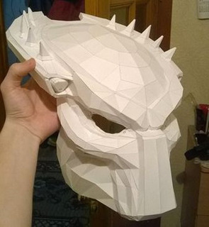 Mascara Depredador - Tamaño Real - 38 Cm - Papercraft
