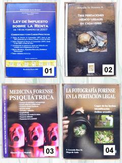 Libros Medicina Legal, Criminalística, Derecho