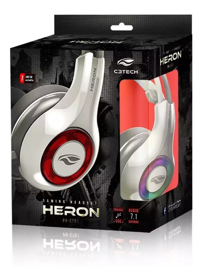 Headset Gamer Com Led Rgb Usb 7.1 Heron Ph G701 Whv2