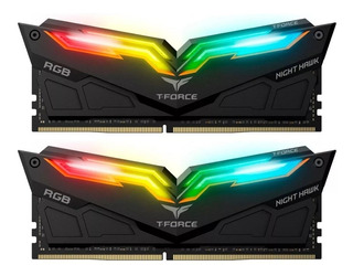 Memoria Ram Ddr4 16gb 3200mhz Night Hawk Rgb 2x8gb Negra