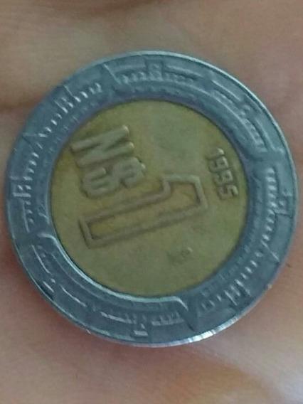 Moneda Mexicana De $1.00 Peso Del Año 1995