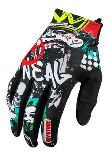 Guantes Oneal Matrix Rancid Negro Multi Motocross Enduro