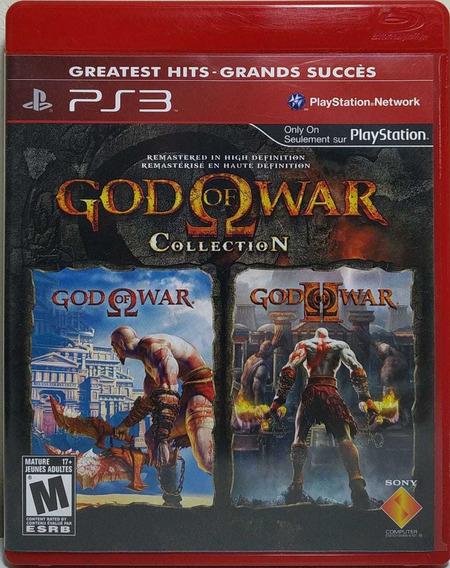 Jogo De Ps3 God Of War Collection, Mídia Física. São 2 Jogos