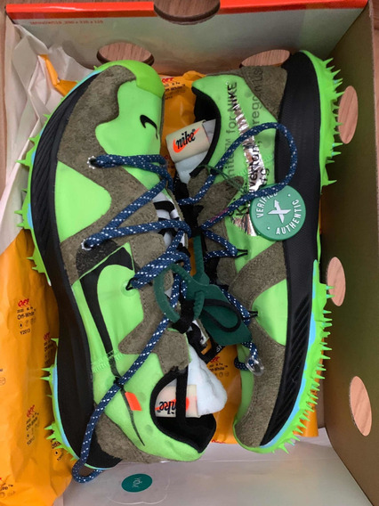 Tenis Nike Zoom Terrazas Kiger 5 Off-white Electric Green