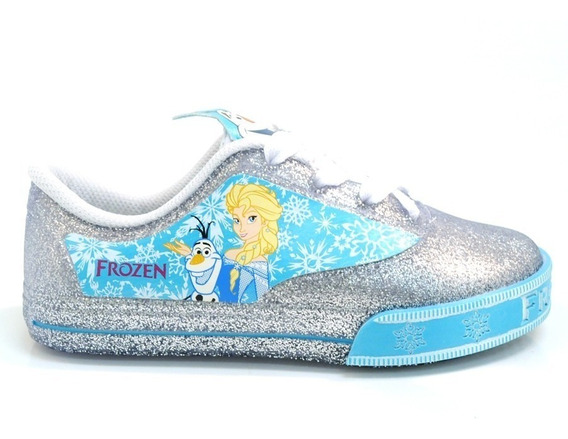 Tênis Frozen Disney Encantada Prata/azul Grendene - 21405