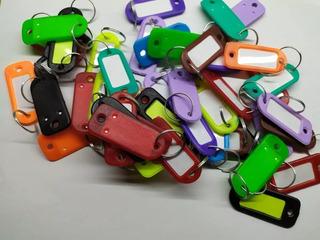 20 Llavero Identificador De Llaves Plastico Maleta De Colore