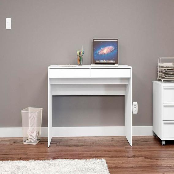 Mesa Para Computador 2 Gavetas Lindóia Politorno Branco