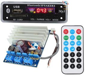 Kit Decodificador Mp3 Bluetooth+amplificador Estéreo 2x50w