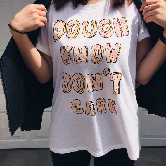 Remera Estampada Dough Know Dont Care Divided H&m Talle S