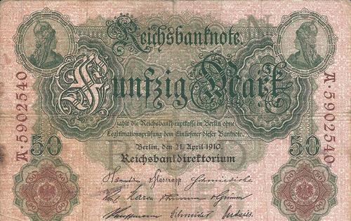 Imagen 1 de 2 de Alemania 50  Marcos 1910
