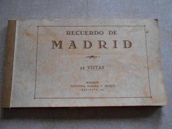 Livro Recuerdo De Madri 24 Vistas Hauser & Menet Antigo Raro