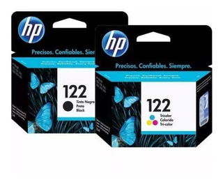 Combo Cartucho Hp 122 Negro + Color 1000 2000 3000 3050