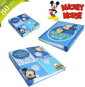 Album De Fotos Infantil Com Estojo Para 80 Fotos Mickey