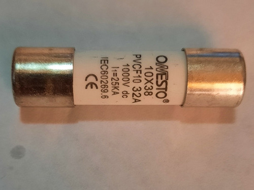Fusible Fotovoltaico 32a Onesto Pv Fuse 1000v 10x38mm