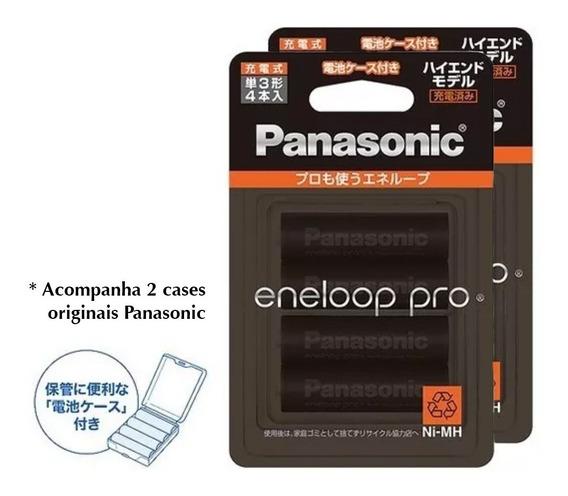 8 Pilhas Aa Recarregáveis Eneloop Pro Fotografia - Panasonic