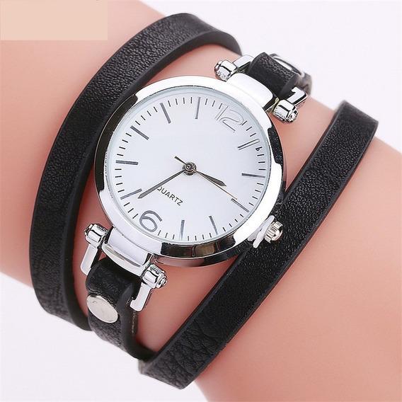 Relógio Feminino Pulseira Em Couro Retro Vintage 2116