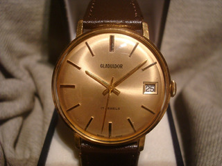 Precioso Reloj Gladiador 1957 Oro Plaque18k New!! Nos! Joya!