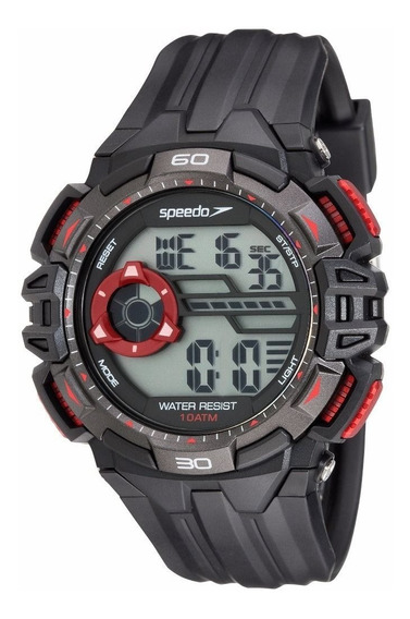 Relógio Speedo Preto Detalhes Vermelho 80632g0evnp1