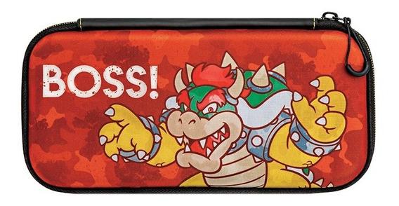 Case Nintendo Switch Slim Travel - Bowser Camo Edition Pdp