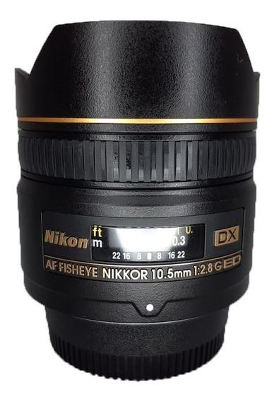 Lente Nikon Af Nikkor 10.5mm Fisheye Olho De Peixe Seminova