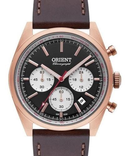 Relógio Orient Masculino Cronografo Couro - Mrscc016 P1nx