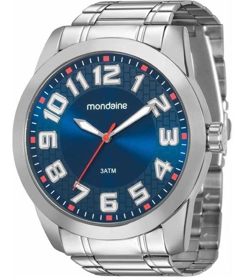 Relógio Mondaine Masculino Aço Original + Brinde