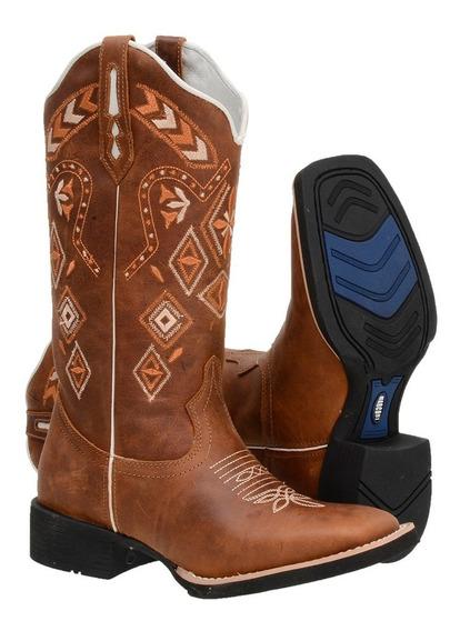 Bota Feminina Country Texana Pronta Entrega Barato Promoção