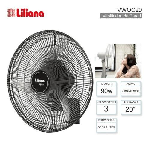 Imagen 1 de 10 de Ventilador Pared Liliana Woc20