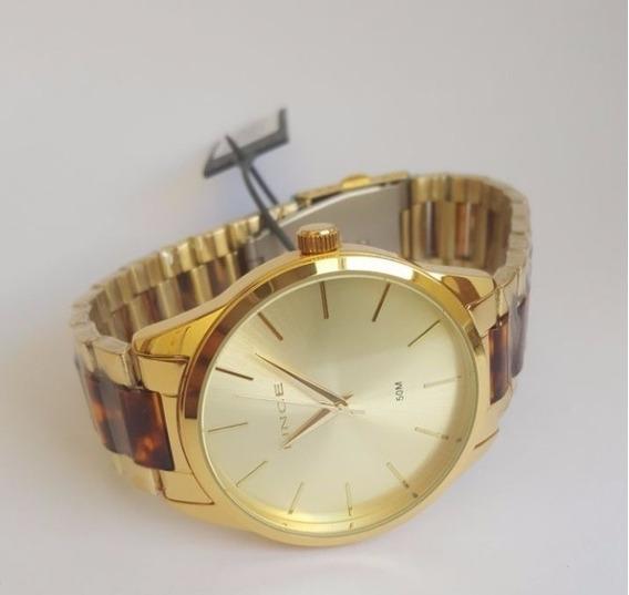 Relógio Lince Feminino Grande Pulseira De Oncinha Lrt4381l