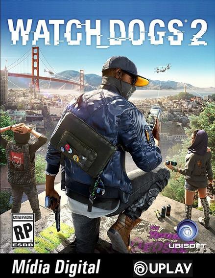 Uplay Com Watch Dogs 2 + 3 Games Mídia Digital P/computador
