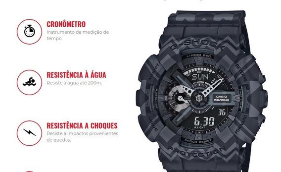 Relógio Casio G-shock Ga-110tp-1adr Cor Cinza/preto