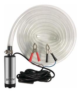 Dc 12v Bomba Sumergible Eléctrica Agua Diesel Aceite Plata