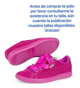 Tenis Puma. Sneaker Puma De Piel Originales Color Fiusha