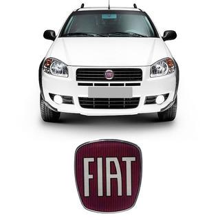 Adesivo Emblema Da Grade Dianteira Fiat Strada Resinado