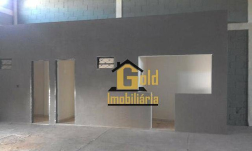 Galpão Para Alugar, 300 M² Por R$ 3.000/mês - Vila Carvalho - Ribeirão Preto/sp - Ga0083