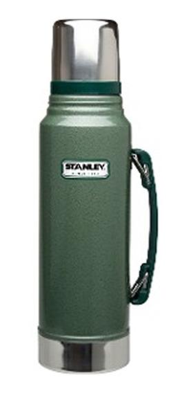 Termo Clasico Con Tapon Cebador 1 Litro Verde (no Envios)