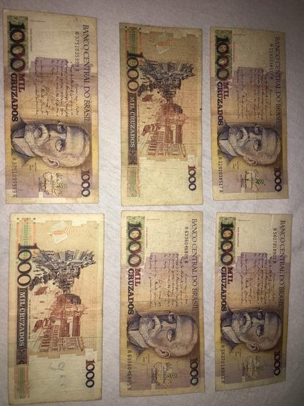 Nota De Mil Cruzados (1.000) Machado De Assis
