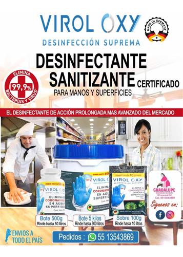 Sobres Sanitizantes Virol-oxy, Certificado, No Tòxico.