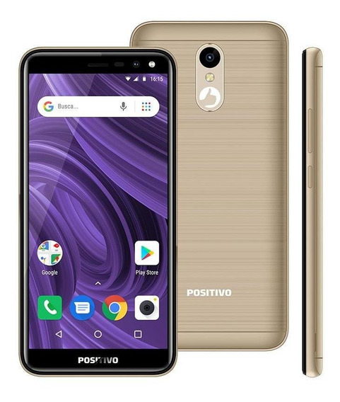 Smartphone Positivo Twist 2, Dourado, 5.34 , 16gb, 8mp