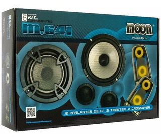 Combo 12 Cuotas Auto Moon M641 2 Parlantes 2 Tweeter 2 Xover