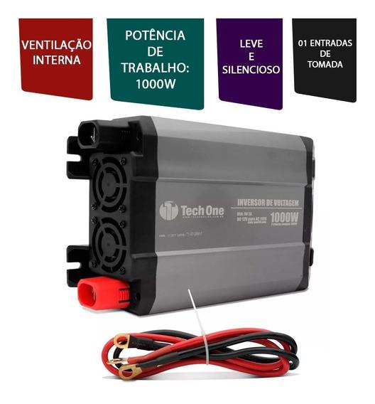 Inversor De Voltagem Automático Veicular 12v P/ 110v 1000w